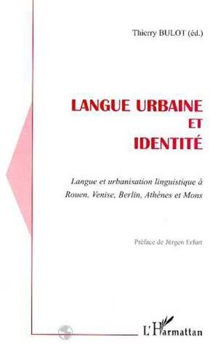 Couverture LANGUE URBAINE ET IDENTITE