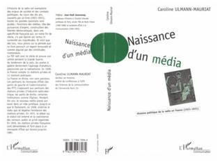 Couverture NAISSANCE D'UN MEDIA