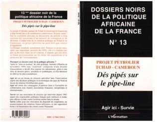 Couverture PROJET PETROLIER TCHAD-CAMEROUN