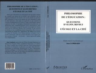 Couverture Philosophie de l'éducation : questions d'aujourd'hui