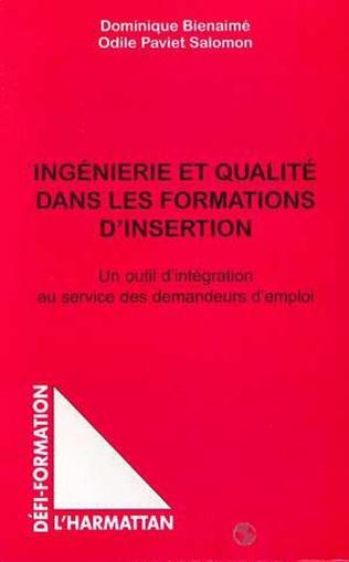 Couverture INGENIERIE ET QUALITE DANS LES FORMATIONS D'INSERTION