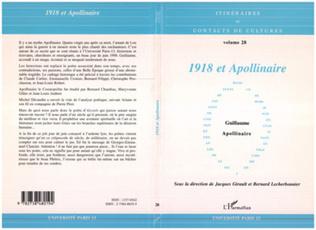 Couverture 1918 et Apollinaire