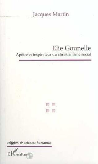 Couverture ELIE GOUNELLE