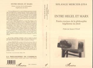 Couverture ENTRE HEGEL ET MARX