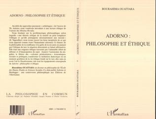 Couverture ADORNO : PHILOSOPHIE ET ÉTHIQUE
