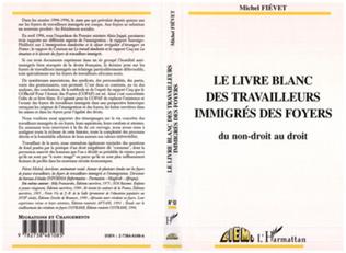 Couverture LE LIVRE BLANC DES TRAVAILLEURS IMMIGRES DES FOYERS