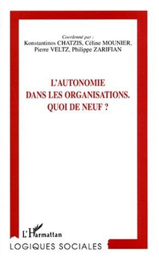 Couverture L'AUTONOMIE DANS LES ORGANISATIONS