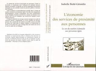 Couverture L'ECONOMIE DES SERVICES DE PROXIMITE AUX PERSONNES
