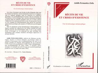 Couverture RECITS DE VIE ET CRISES D'EXISTENCE
