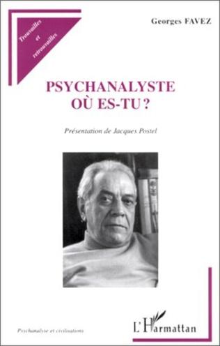 Couverture PSYCHANALYSTE OU ES-TU ?