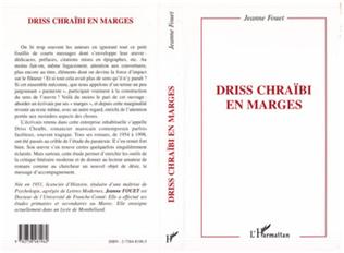 Couverture DRISS CHRAÏBI EN MARGES