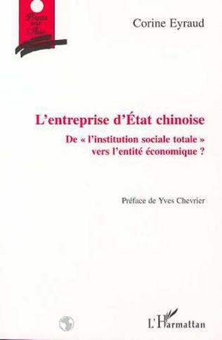 Couverture L'ENTREPRISE D'ETAT CHINOISE