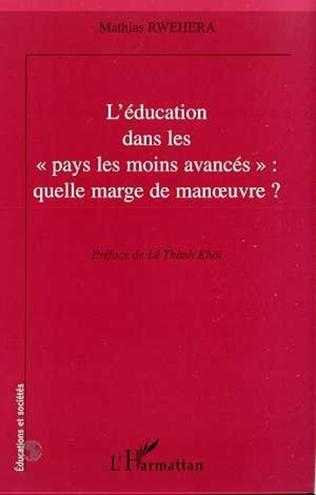 Couverture L'EDUCATON DANS LES