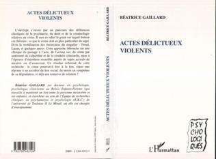 Couverture Actes délictueux violents