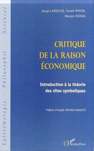 Couverture CRITIQUE DE LA RAISON ÉCONOMIQUE