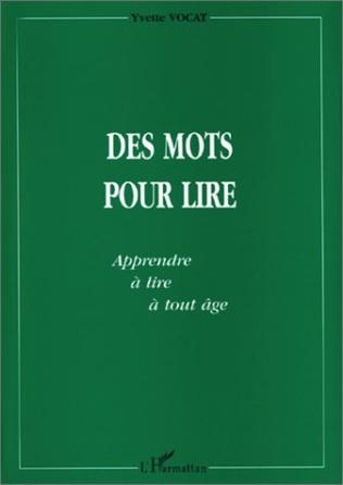 Couverture MOTS (DES) POUR LIRE