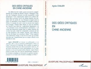 Couverture IDEES (DES) CRITIQUES EN CHINE ANCIENNE