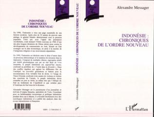 Couverture INDONESIE : CHRONIQUES DE L'ORDRE NOUVEAU