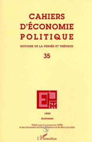 Couverture Cahiers d'économie politique n°35