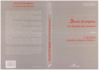 Couverture DROIT D'ORIGINE