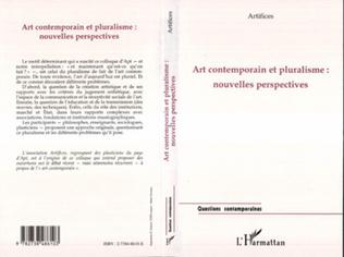 Couverture ART CONTEMPORAIN ET PLURALISME