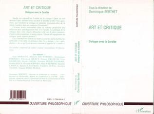 Couverture ART ET CRITIQUE
