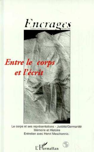 Couverture ENTRE LE CORPS ET L'ÉCRIT
