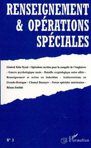 Couverture RENSEIGNEMENT ET OPERATIONS SPECIALES N°3