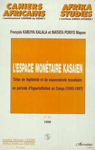 Couverture L'ESPACE MONÉTAIRE KASAIEN