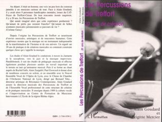 Couverture Les percussions de Treffort