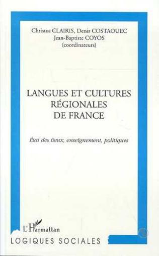 Couverture LANGUES ET CULTURES REGIONALES DE FRANCE