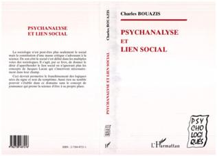 Couverture PSYCHANALYSE ET LIEN SOCIAL