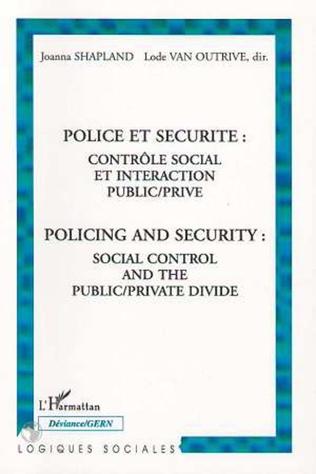 Couverture Police et sécurité : contrôle social et interaction public/p
