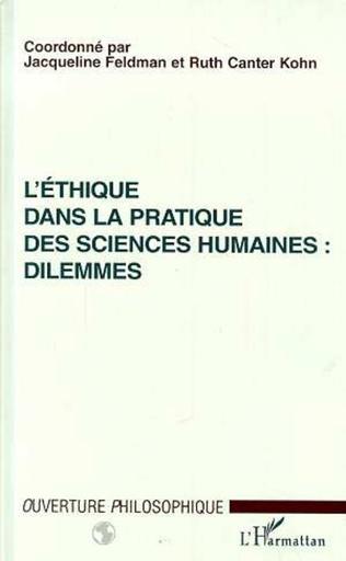 Couverture L'ETHIQUE DANS LA PRATIQUE DES SCIENCES HUMAINES : DILEMMES