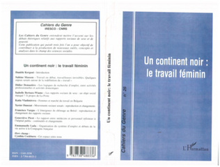 Couverture CONTINENT (UN) NOIR : LE TRAVAIL FEMININ