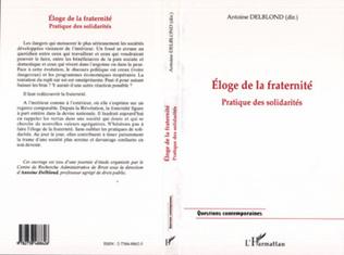 Couverture ELOGE DE LA FRATERNITE