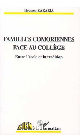 Couverture FAMILLES COMORIENNES FACE AU COLLEGE