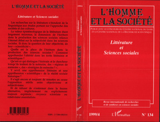Couverture LITTERATURE ET SCIENCES SOCIALES