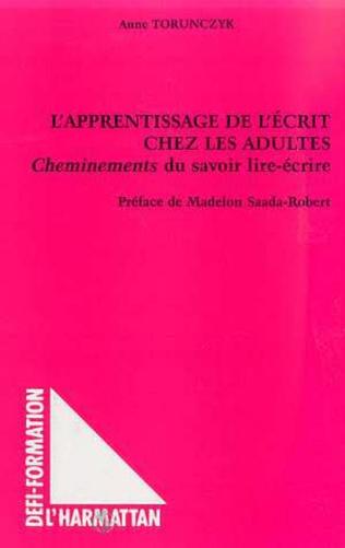 Couverture L'APPRENTISSAGE DE L'ÉCRIT CHEZ LES ADULTES