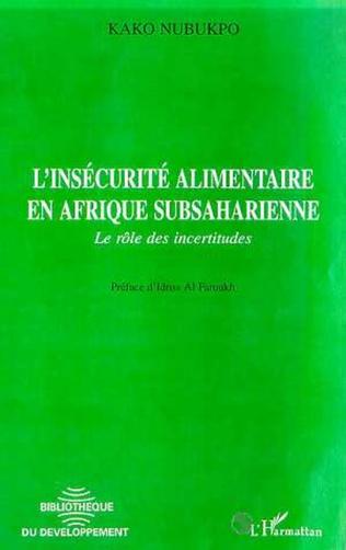 Couverture L'INSECURITE ALIMENTAIRE EN AFRIQUE SUBSAHARIENNE