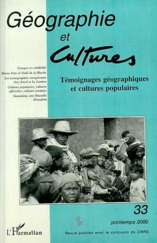 Couverture TEMOIGNAGES GEOGRAPHIQUES ET CULTURES POPULAIRES