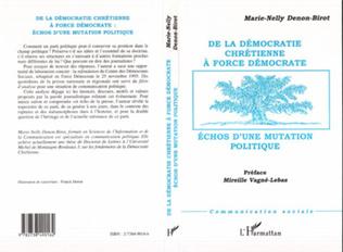 Couverture DÉMOCRATIE (DE LA) CHRÉTIENNE À FORCE DÉMOCRATE