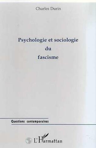 Couverture PSYCHOLOGIE ET SOCIOLOGIE DU FASCISME