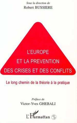 Couverture L'EUROPE ET LA PREVENTION DES CRISES ET DES CONFLITS