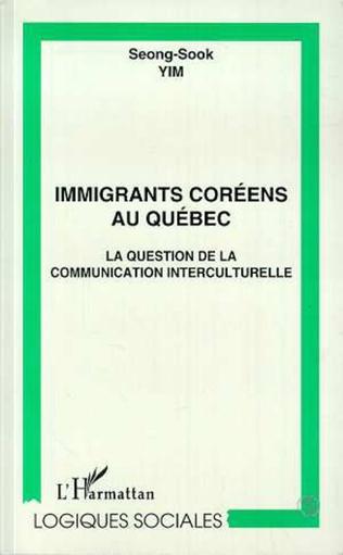 Couverture IMMIGRANTS COREENS AU QUEBEC
