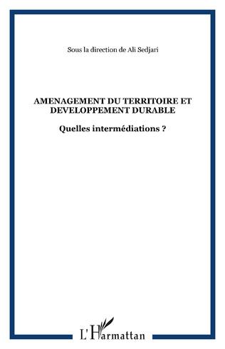 Couverture AMENAGEMENT DU TERRITOIRE ET DEVELOPPEMENT DURABLE