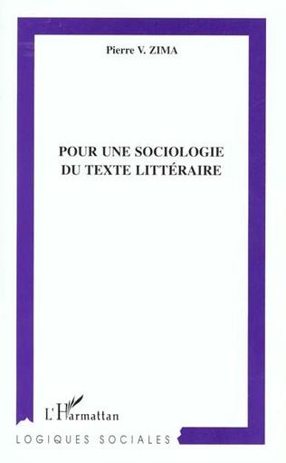 Couverture POUR UNE SOCIOLOGIE DU TEXTE LITTERAIRE