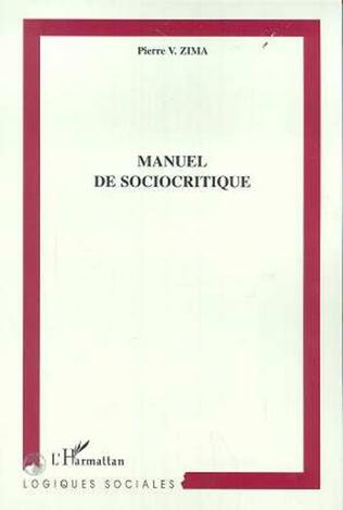 Couverture MANUEL DE SOCIOCRITIQUE