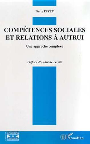 Couverture COMPETENCES SOCIALES ET RELATIONS A AUTRUI