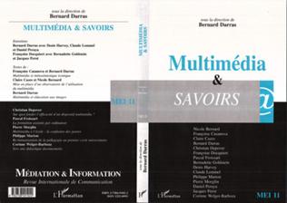 Couverture MULTIMEDIA ET SAVOIRS
